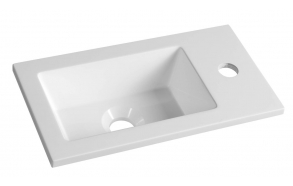 Cultured Marble Washbasin 40x22cm, white