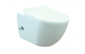 rimless wall hung toilet Free with integrated bidet faucet