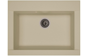 composite kitchen sink Zonda Beige, siphon included