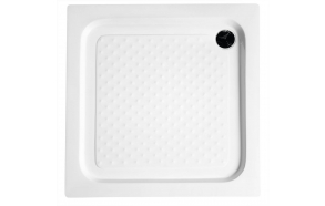 Square Acrylic Shower Tray 80x80x15cm, drain included