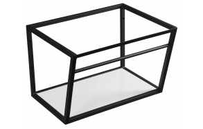 metallist valamukonstruktsioon Ska, 60 cm, matt must, valge MDF riiul