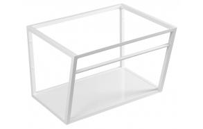 metallist valamukonstruktsioon Ska, 60 cm, matt valge, valge MDF riiul