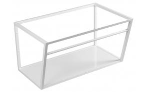 metallist valamukonstruktsioon Ska, 75 cm, matt valge, valge MDF riiul