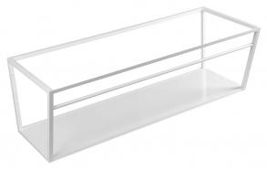 metallist valamukonstruktsioon Ska, 120 cm, matt valge, valge MDF riiul