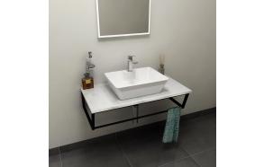 SKA Countertop 90x2x46 cm, technical marble, Calacatta