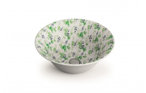 ceramic worktop basin New Nordic, pattern Amazona
