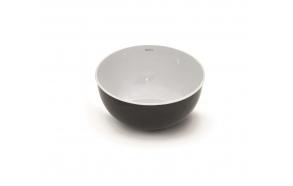 enamelled stainless steel worktop basin Mogro, white+grey