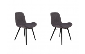 set of 2 chairs Lester Anthracite