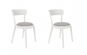 set of 2 chairs Hoppe Comfy White
