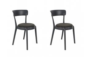 set of 2 chairs Hoppe Comfy Dark Grey