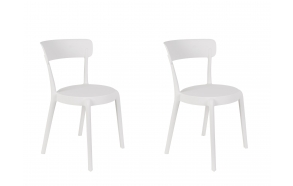 set of 2 chairs Hoppe White