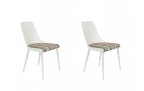 komplekt: 2 tooli Olivia, valge