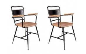 komplekt: 2 käetugedega tooli Gene