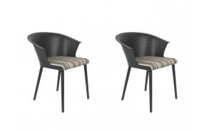 set of 2 armchairs Olivia Dark Grey