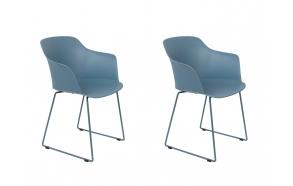 komplekt: 2 käetugedega tooli Tango, sinine