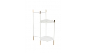 Side Table Honeycomb White