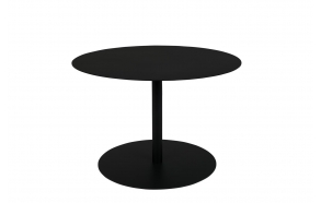 Side Table Snow Black Round M