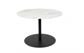 Side Table Snow Marble Round M