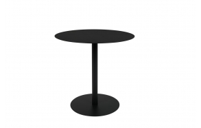 Side Table Snow Black Round S