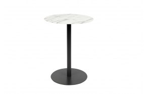Side Table Snow Marble Round S