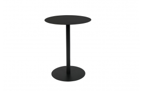 Side Table Snow Black Oval