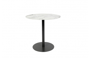 Side Table Snow Marble Oval