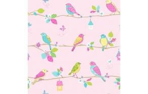Hoopla Pretty Birds SidewallPink