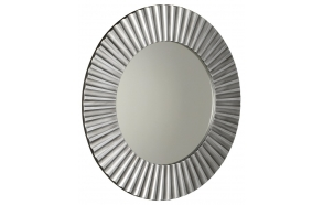 PRIDE mirror with frame, diameter 90cm, Silver