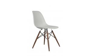 chair Alexis, light grey, light brown feet