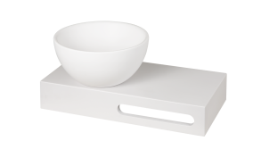 silkstone base, wall mount, with integrated screw places