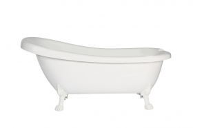 retro bathtub Susanna, white feet, plastic drain included