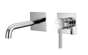 Wall single lever basin mixer twoparts spout 200 mm, chrome