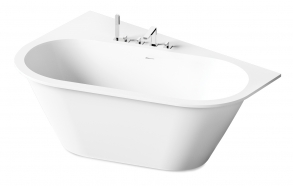 Silkstone bath Deco Shape white