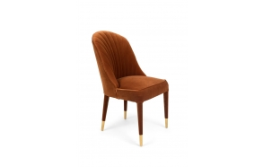 Give Me More Velvet Chair Orange