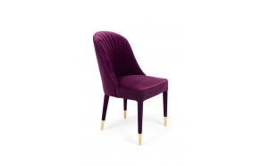 Give Me More Velvet Chair Purple
