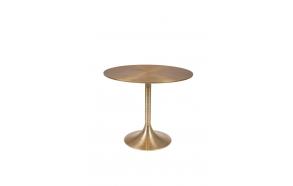 Hypnotising Round Dining Table Gold