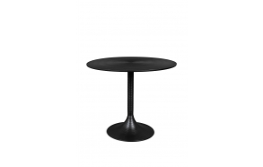 Hypnotising Round Dining Table Black