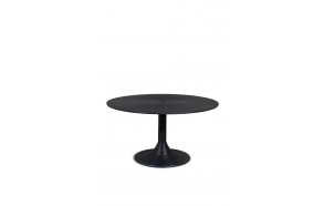 Hypnotising Round Coffee Table Black