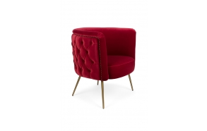 Such A Stud Lounge Chair Red