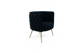 Such A Stud Lounge Chair Dark Blue