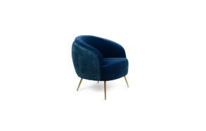So Curvy Lounge Chair Royal Blue