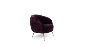 So Curvy Lounge Chair Purple