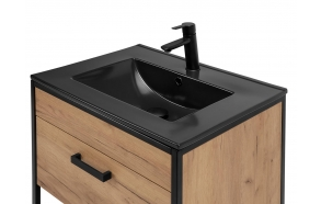 furniture basin 60 cm, black