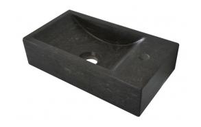 BLOK Stone Washbasin 40x10x22 cm, black anthracite