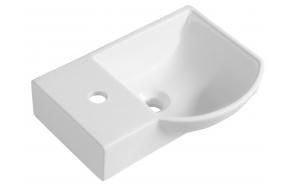 LITOS Ceramic Washbasin 45x32 cm, left/white