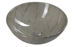 DALMA ceramic washbasin 42x42x16,5 cm, grey, click-clack not included