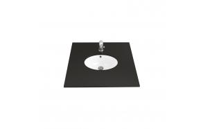 33x43 cm UNDERCOUNTER MEDIUM WASHBASIN WHITE (outer dimensions 38x49 cm)