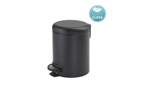 POTTY Soft Close Pedal Bin 3l, black matt