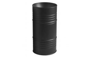 floor mount design basin Barrel, mat black