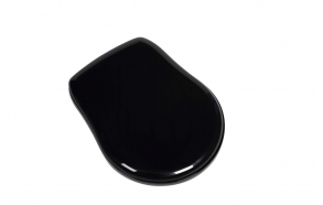 Kerasan Retro black seat cover, chromed hinges (not soft-close)
